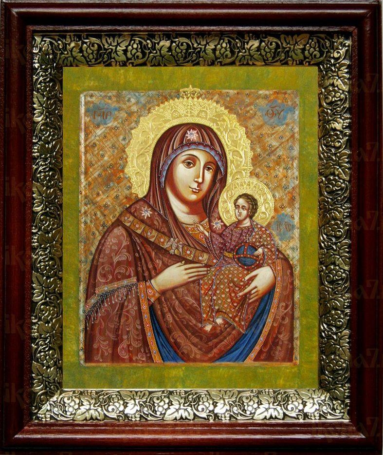 Вифлеемская икона БМ (19х22), темный киот