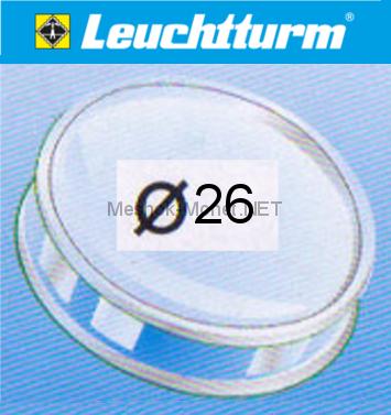 Капсула для монеты Leuchtturm 26 мм, упаковка 10 шт