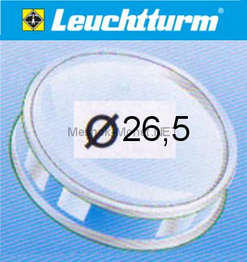 Капсула для монеты Leuchtturm 26,5 мм, упаковка 10 шт