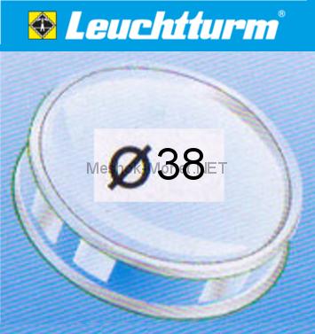 Капсула для монеты Leuchtturm 38 мм, упаковка 10 шт