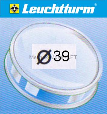 Капсула для монеты Leuchtturm 39 мм, упаковка 10 шт