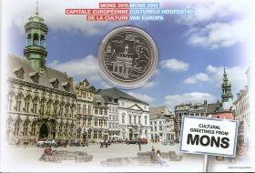 Культурная столица Европы  - Монс 5 евро Бельгия 2016