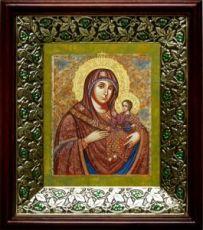 Вифлеемская икона БМ (21х24), киот со стразами
