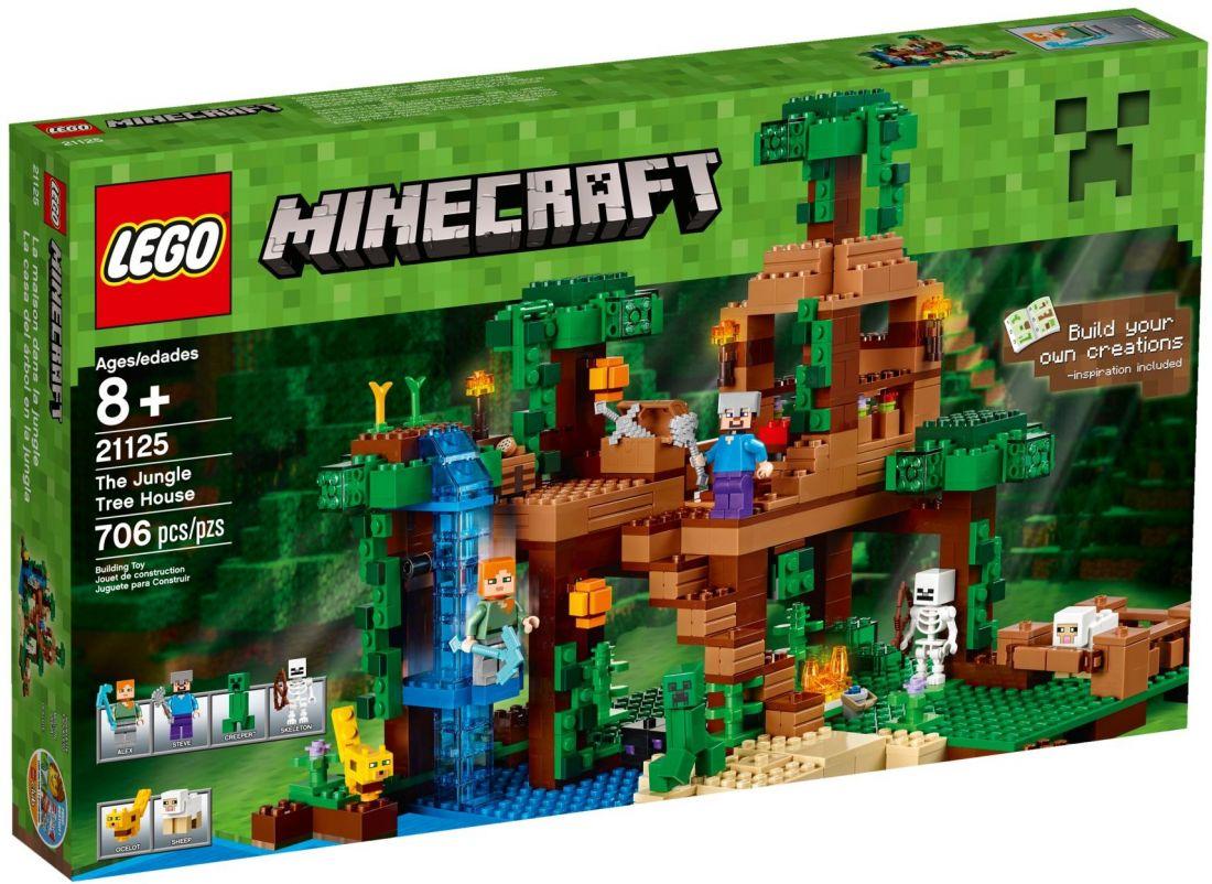 Домик на дереве в джунглях. Конструктор ЛЕГО Майнкрафт 21125