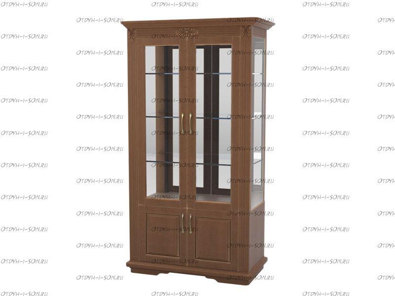 Шкаф-витрина 2-дверный Палермо Массив DreamLine (116х54х220)