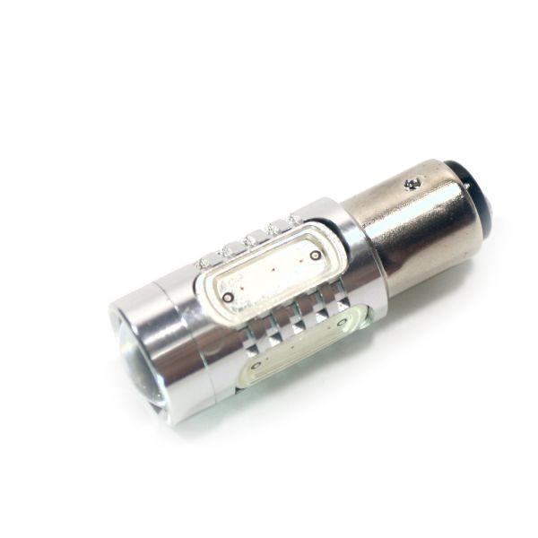 Светодиодная лампа двухконтактная белая 4xEPISTAR 1xCREE 7,5W 1157-P21-5W