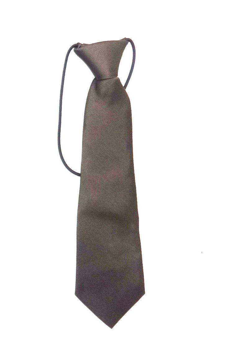 Темно-коричневый галстук для мальчика