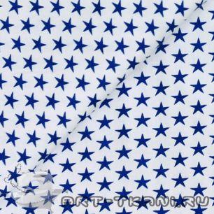 Ткань 50х40 Звезды на белом