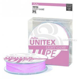 Леска плетеная Aiko Unitex Light Game 4 braid pink 130 м