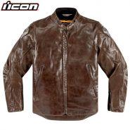 Куртка Icon Retrograde кожаная, Коричневая