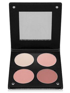 Make-Up Atelier Paris Palette Blush Powder 3D  BL3DBR Beige rose Румяна в палитре на 4 цвета бежево - розовая гамма с зеркалом