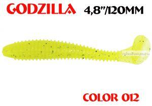 "Мягкая приманка Aiko  Godzilla 4.8"" 120мм / запах рыбы / цвет - 012  (упаковка 5шт)"