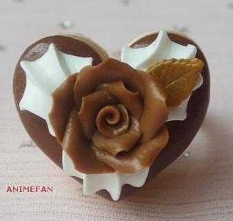 Кольцо Шоколадная роза
