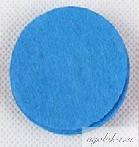 Фетровые кружочки 4 см (голубой)