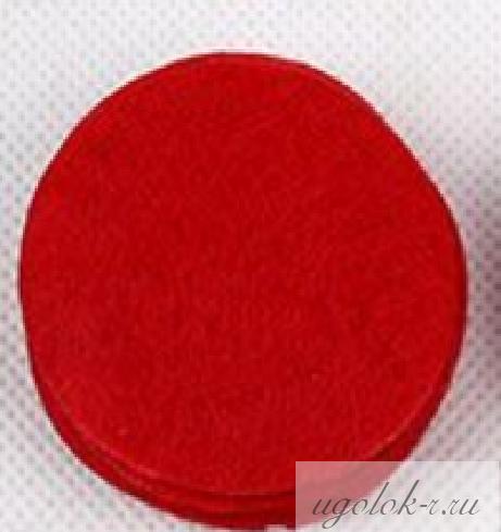 Фетровые кружочки 4 см (красный)