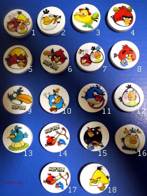 Ластики Angry Birds