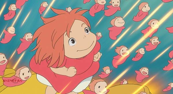 Плакат Рыбка Поньо на утёсе_01