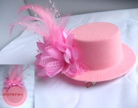 Розовая Мини-шляпка