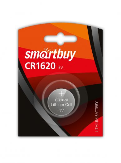 Батарейка литиевый элемент питания (диск) Smartbuy CR1620/1B