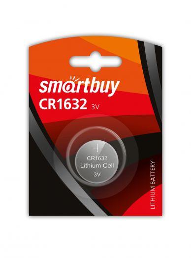 Батарейка литиевый элемент питания (диск) Smartbuy CR1632/1B
