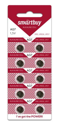 Батарейка часовая Smartbuy AG7-10B