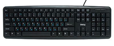 Клавиатура проводная Dialog KS-020 Black (USB)