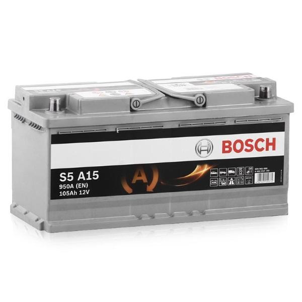Автомобильный аккумулятор АКБ BOSCH (БОШ) S5A 150 / 605 901 095 S5 AGM 105Ач о.п.