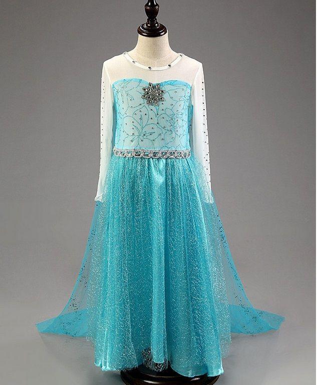 Карнавальный костюм платье Эльзы размер 140 см