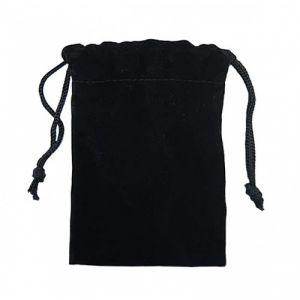 Мешочек для флешки бархат черный
