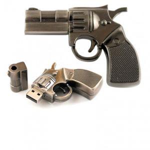 Флешка Револьвер металл