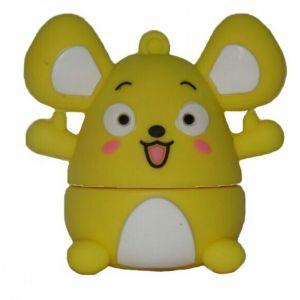 Флешка Мышка желтая