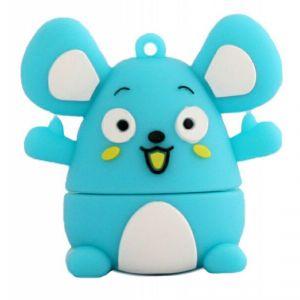 Флешка Мышка голубая