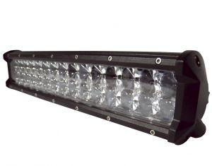 Двухрядная светодиодная LED фара с 4D линзой - 90W CREE дальний свет
