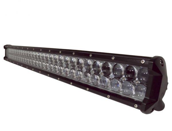 Двухрядная светодиодная LED фара с 4D линзой - 234W CREE дальний свет