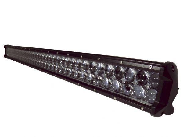 Двухрядная светодиодная LED фара с 4D линзой - 288W CREE дальний свет