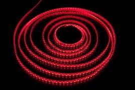 СД лента 9.6Вт SMD3528-120LED 480Lm 12V IP65 (красный)