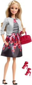 Кукла Барби White Jacket & Black Floral Print Skirt, серия Уличный стиль, BARBIE