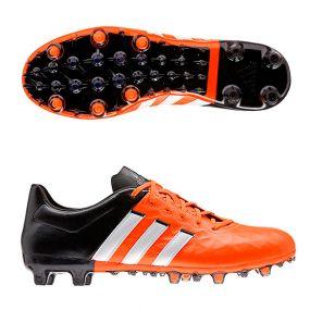 Бутсы adidas Ace 15.2 FG/AG Leather оранжевые