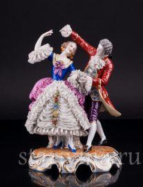 Танцующая пара, кружевная, Muller & Co, Volkstedt, Германия, нач.20 в