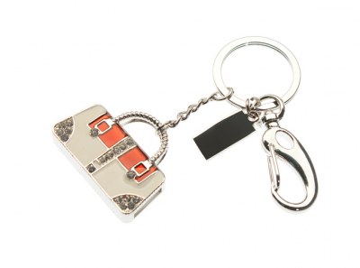 4GB USB-флэш накопитель Apexto UJ045 Сумка серебро красно-белая