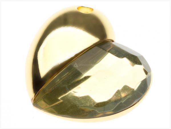 8GB USB-флэш корпус для накопитель Apexto UU-50 сердце стеклянное золотое
