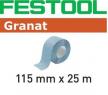 Шлифовальный материал FESTOOL Granat StickFix в рулоне 115x25m P320 GR  201768
