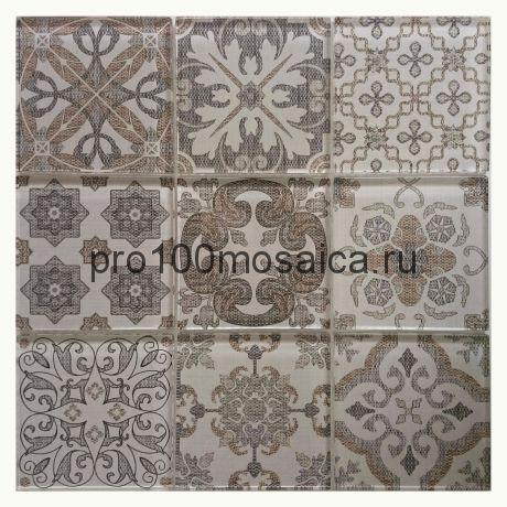 COIN. Мозаика 98х98 мм, серия GLASS, размер, мм: 300*300*8 мм (ORRO Mosaic)