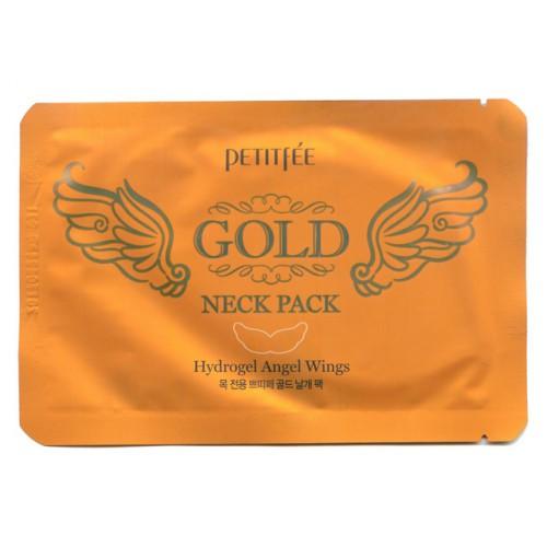 PETITFEE Маска для кожи шеи гидрогелевая (с золотом и экстрактом улитки) 10г