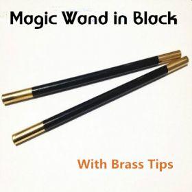 Волшебная палочка (чёрная) с латунными наконечниками