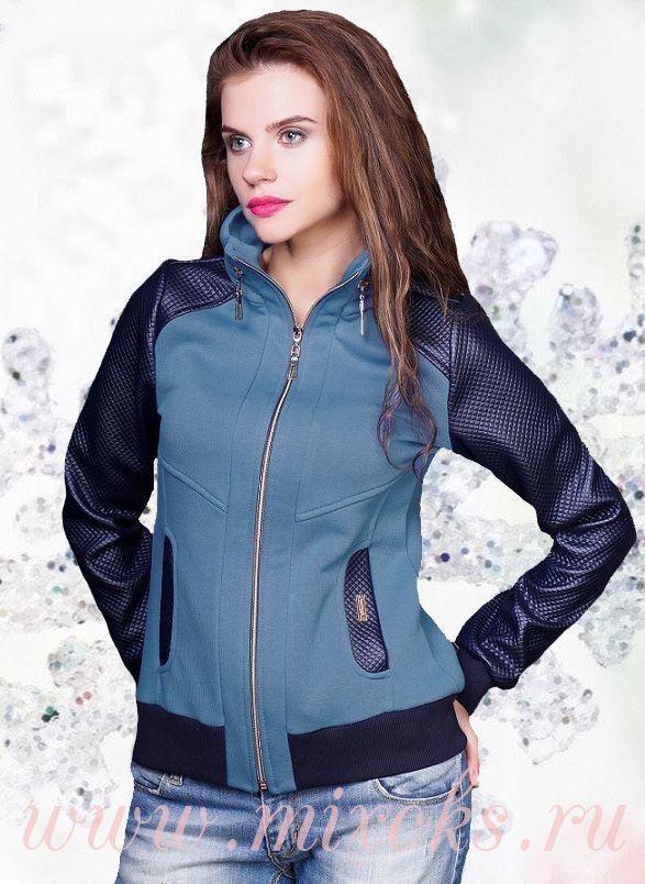 Куртка -Толстовка на молнии, голубая