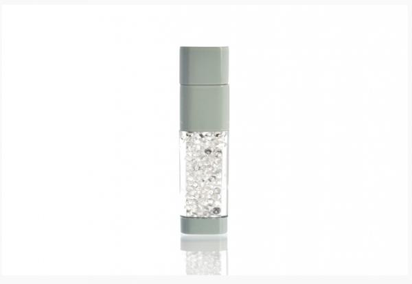 4GB USB-флэш накопитель UsbSouvenir UL-5016 стеклянный, корпус белый, кристал белый