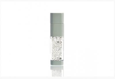 64GB USB-флэш накопитель UsbSouvenir UL-5016 стеклянный, корпус белый, кристалл белый
