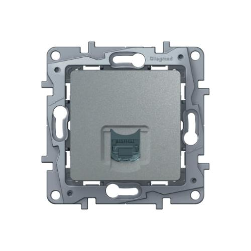 Розетка Etika RJ11 672440 алюминий