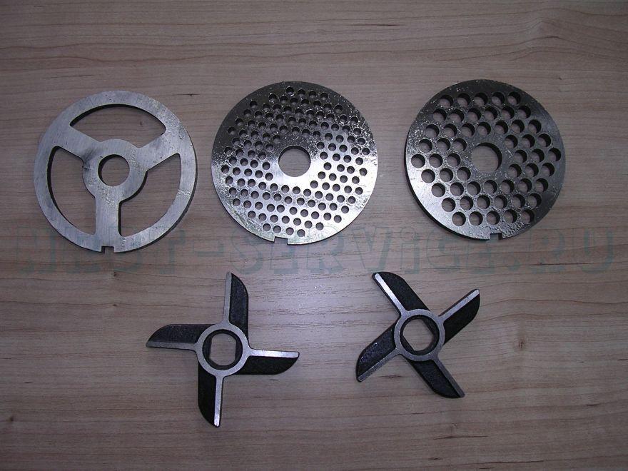 Мясорубка пром. МИМ-600 Комплект ножей и решеток (б/бурта), ,